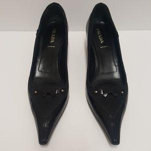 Prada Kitten Heels Pointy Toe Shoes Sz 41 (US 11)